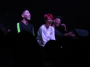 "Amber laughs through her performance for ""Three Million Years""."